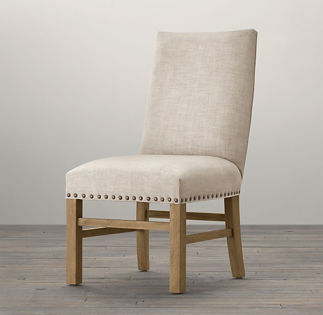 Nailhead Fabric Side Chair
