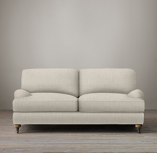 72 English Roll Arm Upholstered Sofa