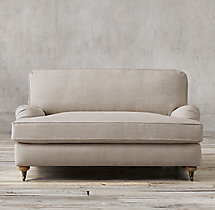 "60"" English Roll Arm Upholstered Sofa"