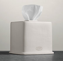 Flatiron Union Stoneware Tissue Cover - White