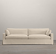 Belgian Track Arm Two-Seat-Cushion Sofa Slipcovers