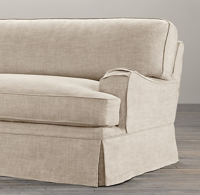 60 English Roll Arm Slipcovered Sofa, English Roll Arm Chair Cover