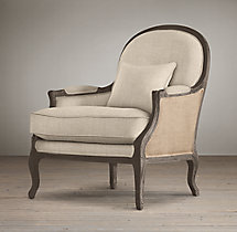 Lyon Chair with Burlap