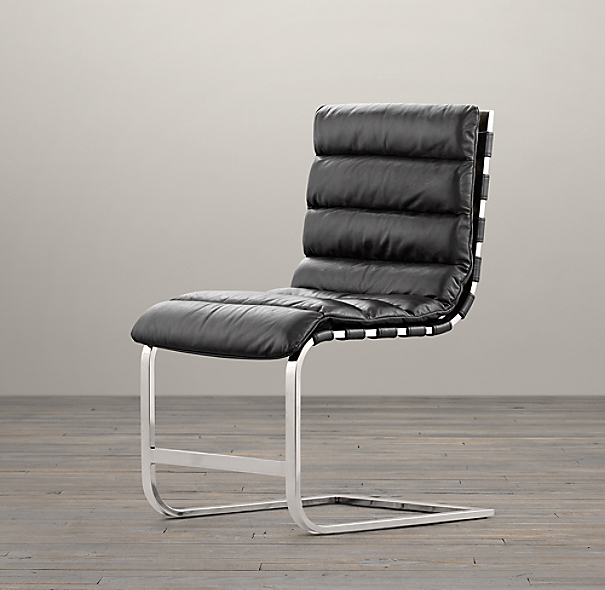 Oviedo leather side chair for Restoration hardware metal chair