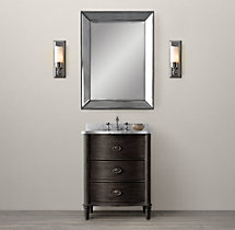 Empire Rosette Powder Room Vanity