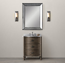 Empire Rosette Powder Room Vanity Sink