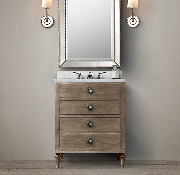 Maison powder room vanity sink for Vanities for powder rooms
