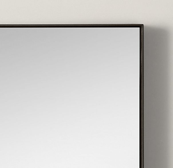Custom metal mirror floating for Metal frame mirror