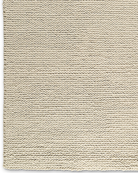Chunky Braided Wool Rug - Cream