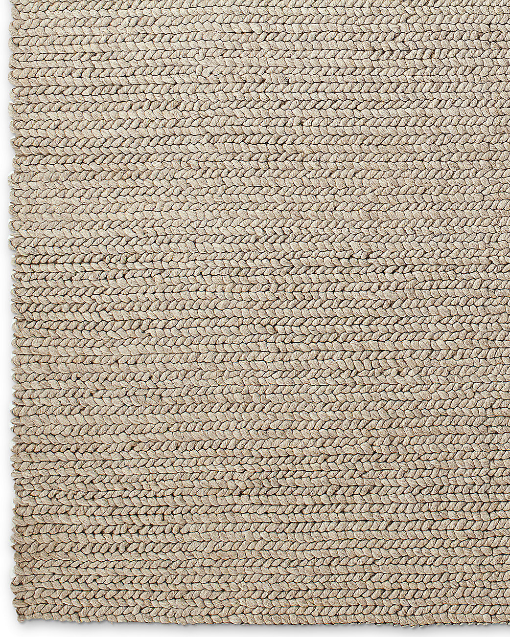 Chunky Braided Wool Rug Oatmeal