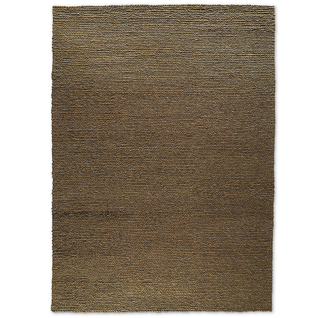 Chunky Braided Wool Rug - Mocha