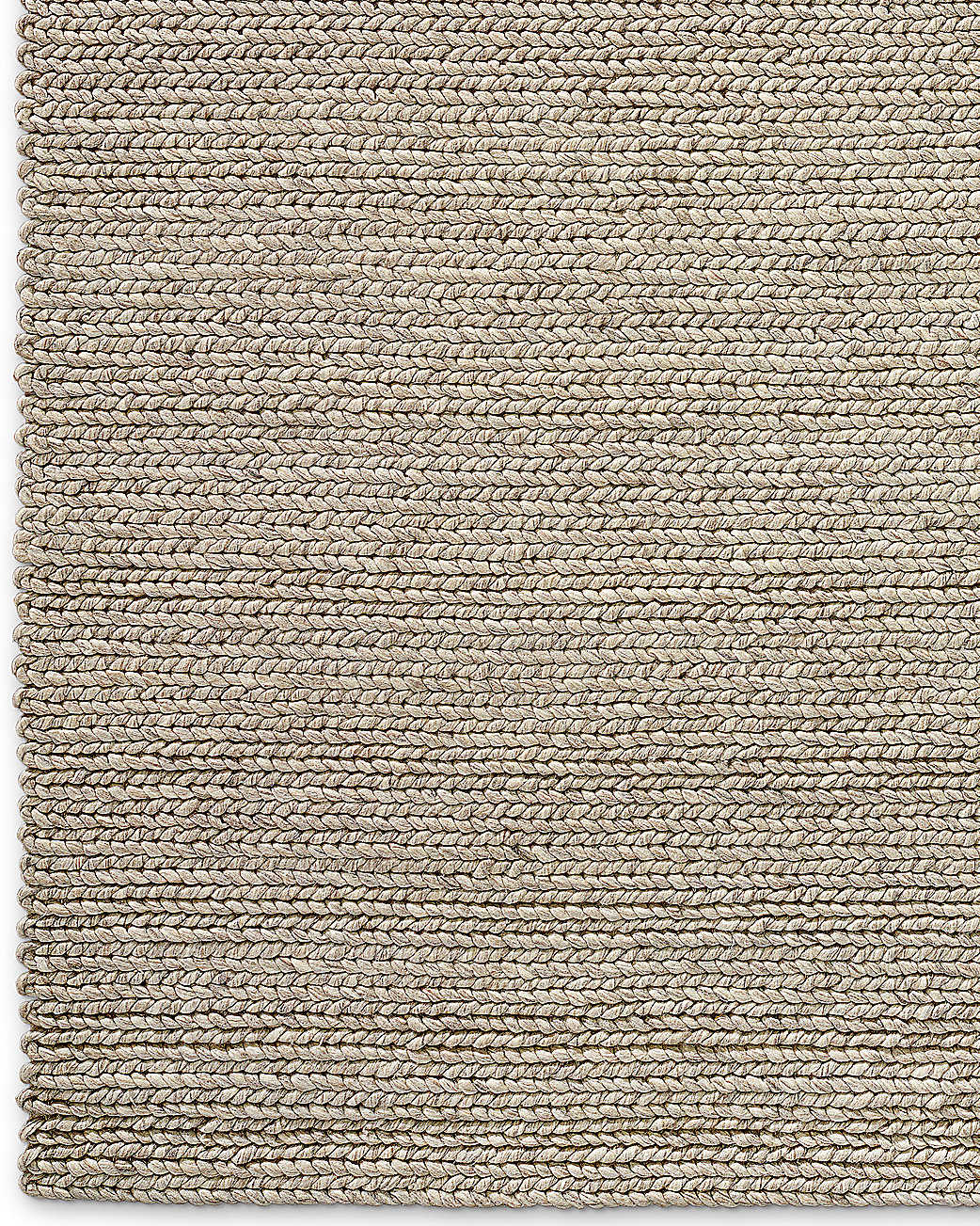 Chunky Braided Wool Rug Marled