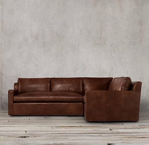 3 Depths Multiple Configurations Belgian Track Arm Leather Customizable Sectional
