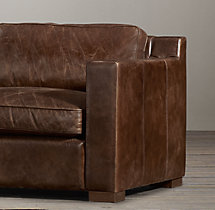 5' Collins Leather Sofa