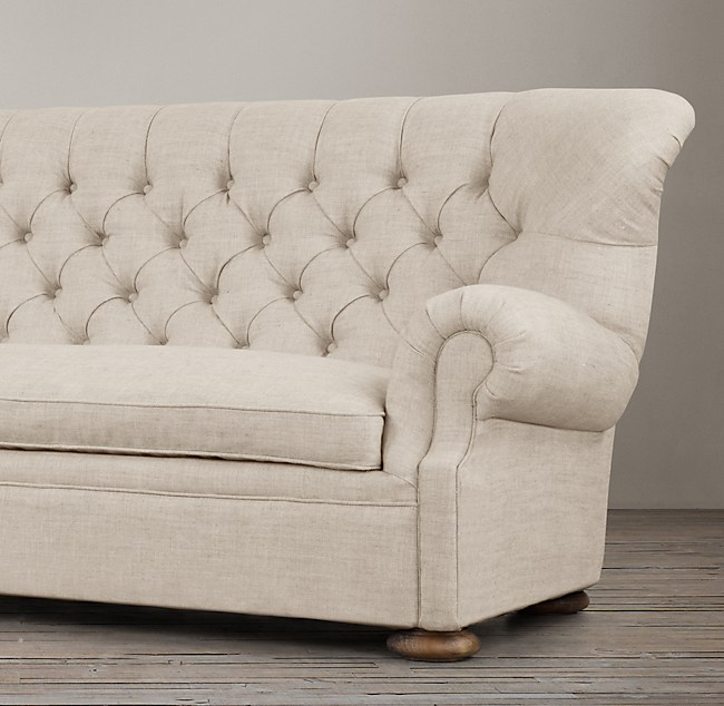 7 39 churchill upholstered sofa for Restoration hardware churchill sofa