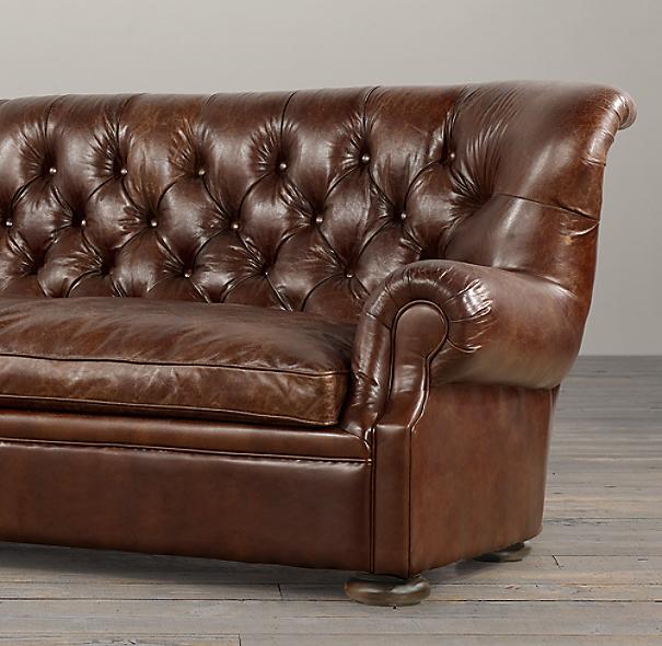 Leather Sectional Sofa Restoration Hardware: Churchill Leather Sofa