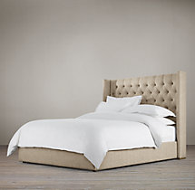 Adler Tufted Fabric Platform Bed