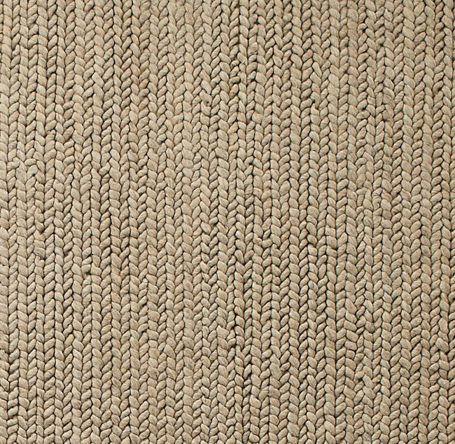 braided wool rug swatch - oatmeal