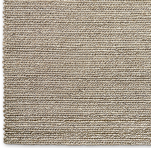 Chunky Braided Wool Rug Swatch Marled