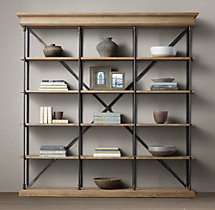 Parisian Cornice Triple Shelving