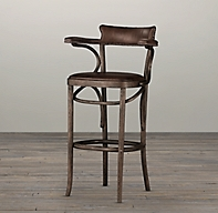 Vienna Caf 233 Leather Stool