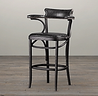 Vienna Caf 233 Leather Counter Stool