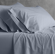 Garment-Dyed Sateen Fitted Sheet