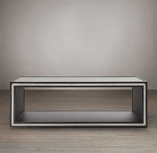 Strand mirrored coffee table for Coffee table 48 x 30