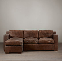Collins Leather Left-Arm Chaise Sectional