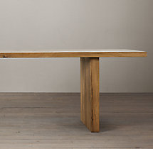 Reclaimed Russian Oak Plank Rectangular Dining Table