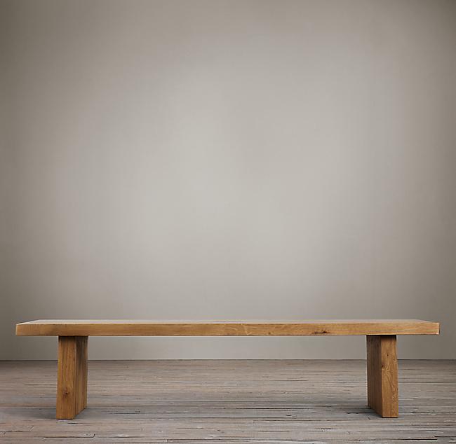 - Reclaimed Russian Oak Plank Coffee Table