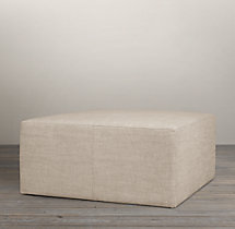 Cooper Upholstered Square Ottoman