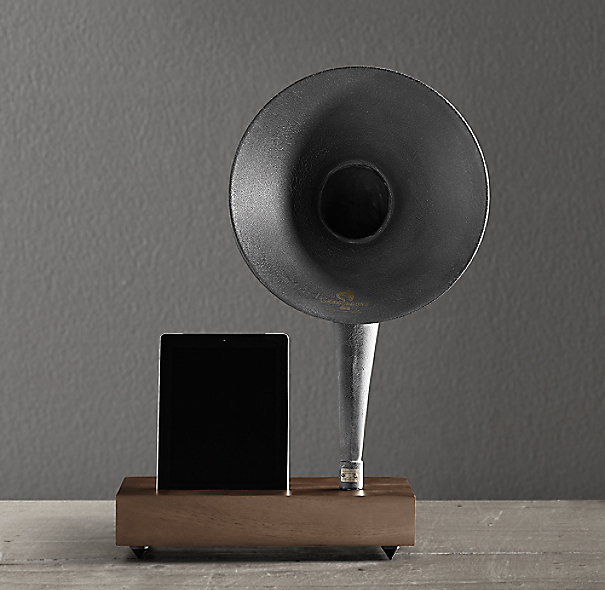 Restoration Hardware Gramophone: Gramophone For IPad®