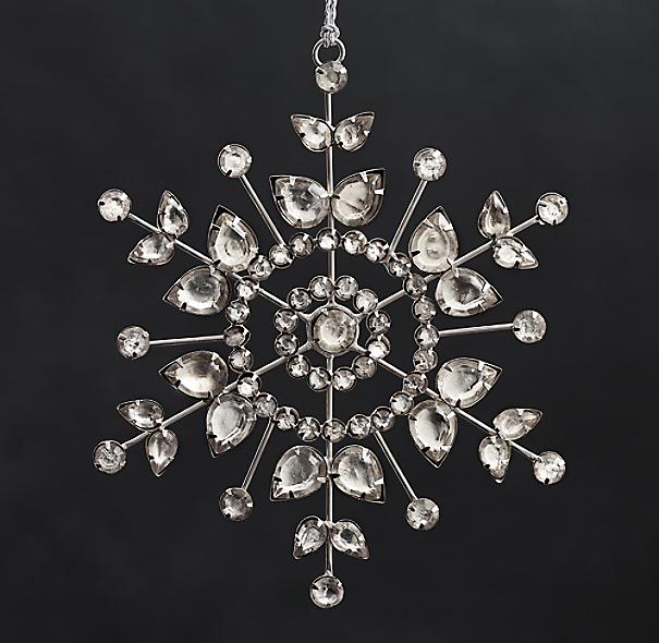 Victorian Glass Snowflake Flower