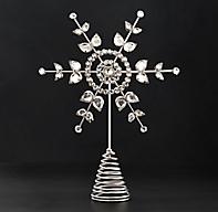 Victorian Glass Snowflake Tree Topper