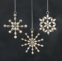 Mini Victorian Glass Snowflakes