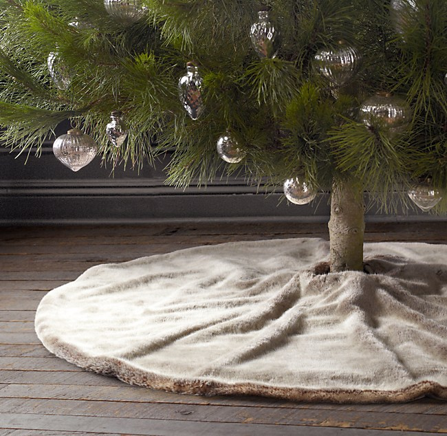 luxe faux fur tree skirt - Fur Christmas Tree Skirt