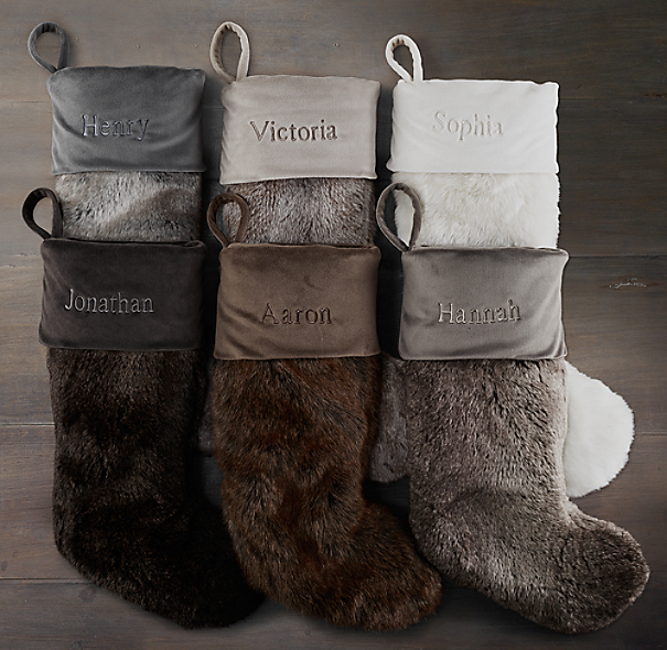 luxe faux fur stocking