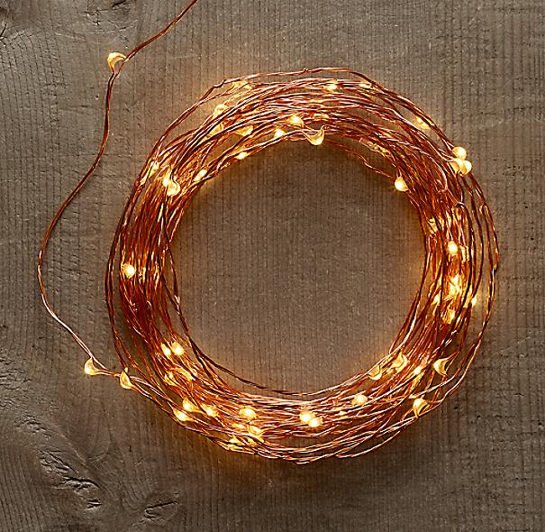 Restoration Hardware Starry String Lights Instructions: Amber Lights On Copper Wire