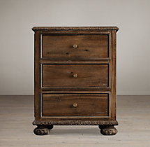 "French Empire 24"" Closed Nightstand"