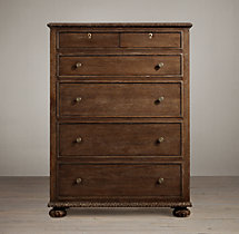 French Empire 6-Drawer Narrow Dresser