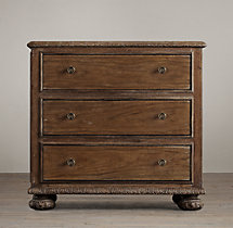 "French Empire 32"" Closed Nightstand"