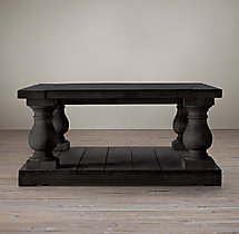Balustrade Salvaged Wood Square Coffee Table