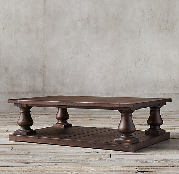 Balustrade Salvaged Wood Coffee Table