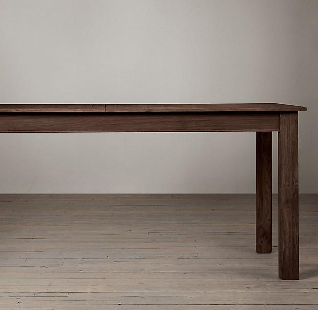 Oak Parsons Rectangular Extension Dining Table