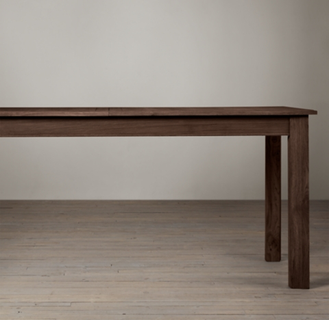 Oak Parsons Rectangular Extension Dining Table