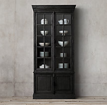 French Casement Double-Door Sideboard & Hutch