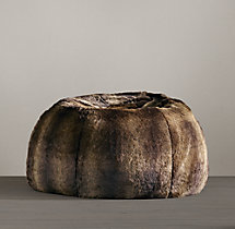 Luxe Faux Fur Bean Bag - Sable