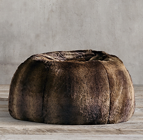 Luxe Faux Fur Bean Bag Collection