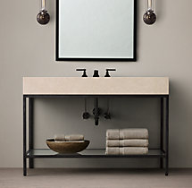Hudson Metal Single Extra-Wide Washstand